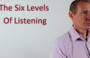 Levels of listening in leadership, management and coaching